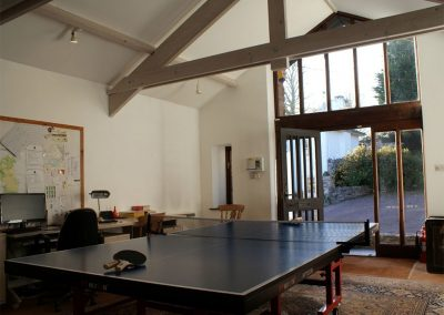 The games barn at Sandridge Barton, Sandridge
