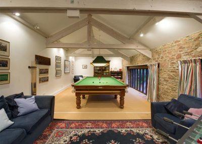 The games barn & snooker room at Sandridge Barton, Sandridge