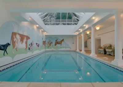 The indoor heated swimming pool at Sandridge Barton, Sandridge
