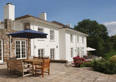 The terrace at Sandridge Barton, Sandridge