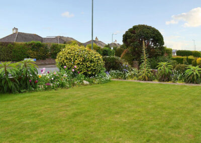 The front garden at Sandringham Heights, Paignton