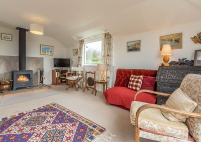 The living area at Schoopers, Porthilly