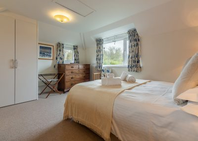 Bedroom #1 at Schoopers, Porthilly