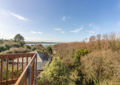 The view from the balcony at Schoopers, Porthilly