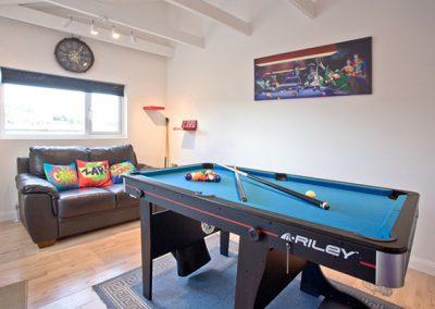 The games room @ Sea Salt Lodge, Torquay