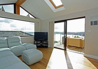 The living area at Sea View House, Newquay