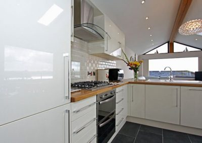 The kitchen at Sea View House, Newquay
