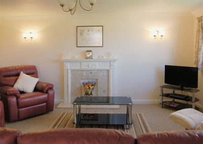 The living area at Sea Whispers, Padstow