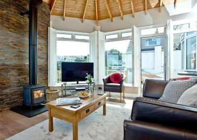 The living area at Seaforth, Mevagissey