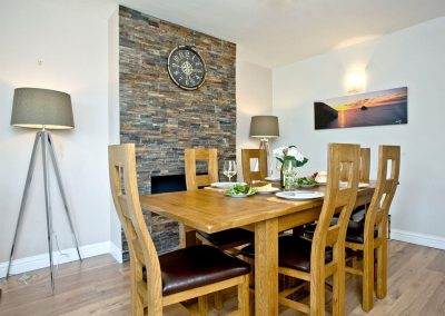 The dining area at Seaforth, Mevagissey