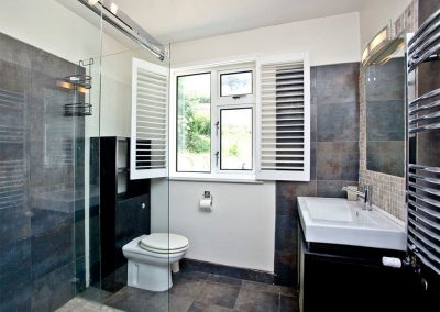 The first shower room at Seaforth, Mevagissey