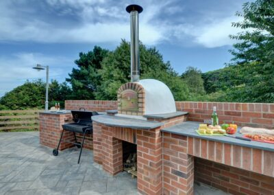 The outdoor kitchen at Seaglass, Watermouth