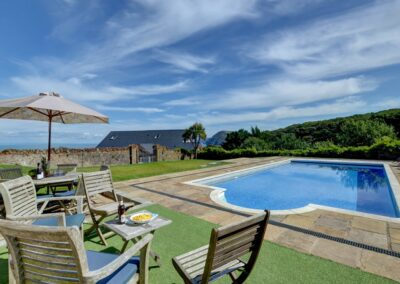 The heated swimming pool at Seaglass, Watermouth
