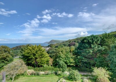 Magnificent country & sea views from Seaglass, Watermouth