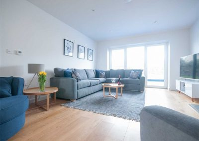 The living area at Seal Cove, Crantock