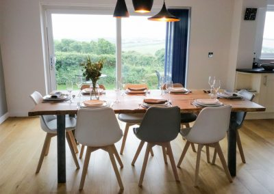 The dining area at Seal Cove, Crantock
