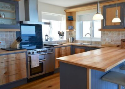 The kitchen at Seaside House, Portreath