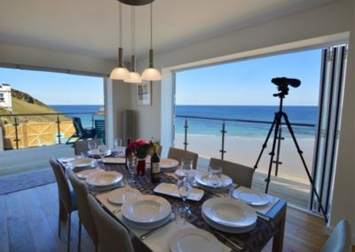 The dining area at Seaside House, Portreath