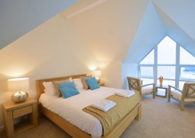 Bedroom #1 at Seaside House, Portreath