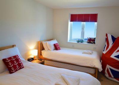 Bedroom #4 at Seaside House, Portreath