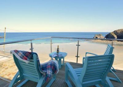 The wraparound deck at Seaside House, Portreath