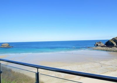 The view from Seaside House, Portreath