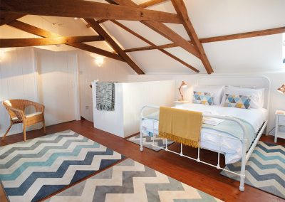 The bedroom at Seekings Cottage, Knowstone