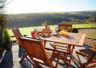 The patio at Seekings Cottage, Knowstone