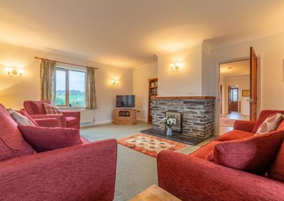 The living area at September Cottage, Roserrow, Polzeath