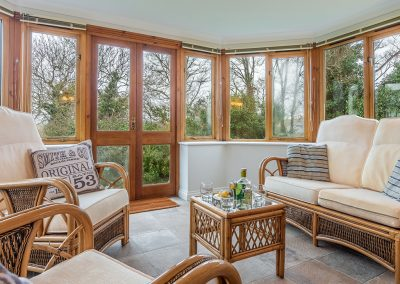 The conservatory at September Cottage, Roserrow, Polzeath
