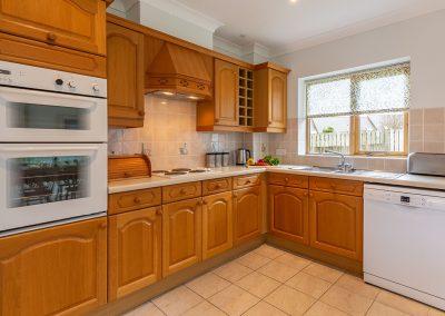 The kitchen at September Cottage, Roserrow, Polzeath