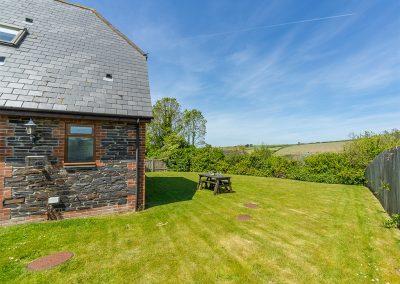 The garden at September Cottage, Roserrow, Polzeath