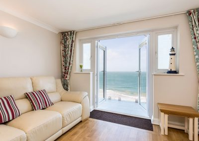 The living area at Serena, Carbis Bay