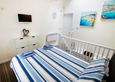 The bedroom at Serendipity, Fowey