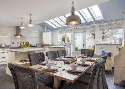 The dining area at Shaldon Cottage, Shaldon
