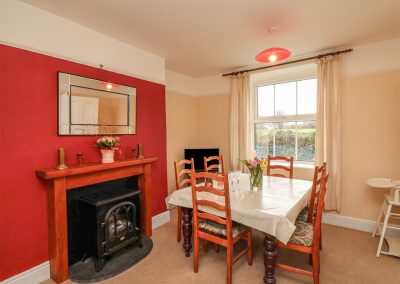 The living area at Shears, Woodford