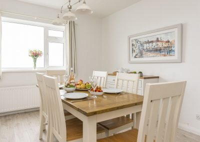 The dining area at Sherrin, Bull Point Lighthouse, Mortehoe