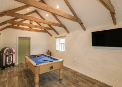 The games room at Silvermine House, Porthpean
