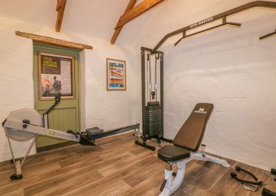 The gym at Silvermine House, Porthpean