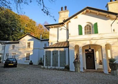 Outside Singleton Manor, Torquay