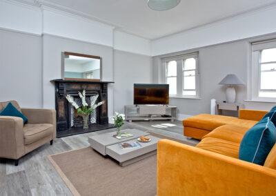The living area at Sir Arthur Conan Doyle, 1 Elliot Terrace, Plymouth