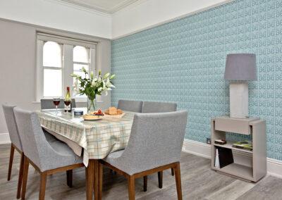 The dining area at Sir Arthur Conan Doyle, 1 Elliot Terrace, Plymouth