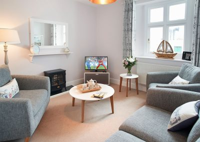The living area at Solebay, Pendeen Lighthouse, Pendeen