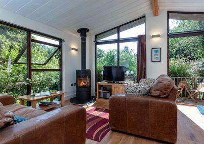 The living area at Spindrel, Gara Mill, Slapton
