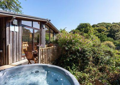The hot tub at Spindrel, Gara Mill, Slapton