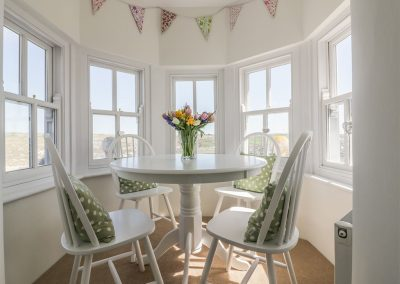 The dining area at Spiral View, Perranporth