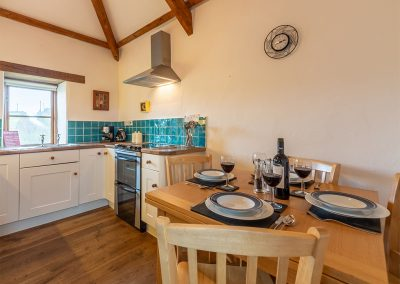 The kitchen & dining area at Spring Barn, Rock