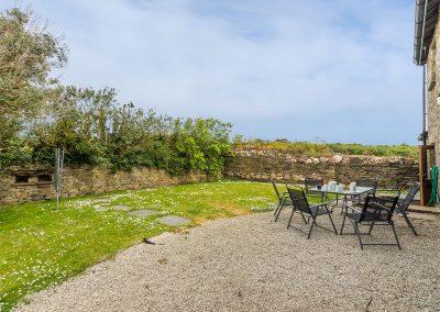 The patio & garden at Spring Barn, Rock