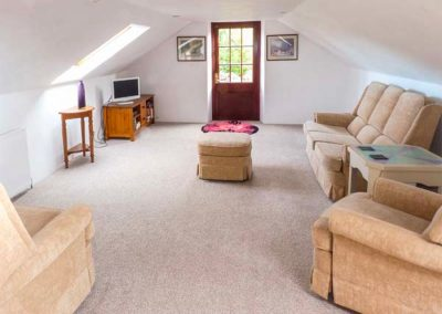 The living area at Spring Cottage, Furzehill