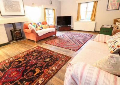 The living area at Spring Park Farmhouse, Rezare